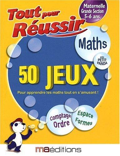 Maths avec petit panda : 50 jeux Maternelle GS 5-6 ans par Corinne Tarcelin