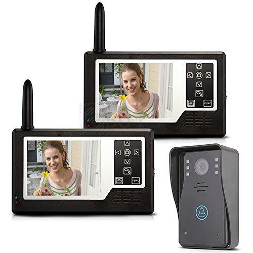 YUEC Interphone vidéo sans Fil, Sonnette, système de Talkie-walkie, écran TFT Couleur de 3,5\