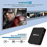 Android 8.1 TV Box, Superpow Smart TV Box Quad Core 4GB RAM+32GB ROM, BT 4.0, 4K*2K UHD H.265, HDMI, USB*3, WiFi Media Player, Android Set-Top Box con Voice Remote Control