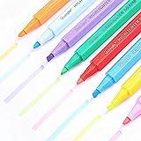 Wanlianer Lackstift, 8-Farbiger Textmarker für Kinder, Studenten, mit farbigem Schlüsselstrich, schräger Kopfmarkierer, Graffiti-Stift