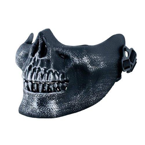 Komonee Silberne halb Schädel-Halloween-Maske (HM26)