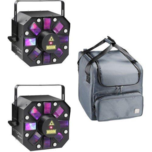 Cameo STORM - RGBAW LED Derby 2er Set + Tasche