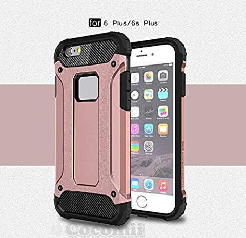 iPhone 6S Plus / iPhone 6 Plus Coque, Cocomii Commando Armor NEW [Heavy Duty] Premium Tactical Grip Dustproof Shockproof Hard Bumper Shell [Military Defender] Full Body Dual Layer Rugged Cover Case Étui Housse Apple (Rose Gold)