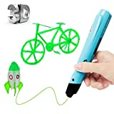 Uvistare 3D Drucker Stift Set 3D Stereoscopic Printing Pen Drawing, 3 x 3M PLA Filament ( Blau Rot Gelb ), Intelligent mit LCD-Bildschirm,...