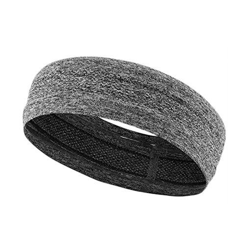 Lazeny Sport Stirnband Schweißband Elastische Headband Atmungsaktiv Sweatbands Feuchtigkeit Wicking Stirnbänder für Tennis Laufen Crossfit Fitnessstudio Basketball Fußball Fitness Laufen Yoga (Grau)