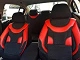 Sitzbezüge k-maniac | Universal schwarz-rot | Autositzbezüge Set Komplett | Autozubehör Innenraum | Auto Zubehör für Frauen und Männer | NO1726226 | Kfz Tuning | Sitzbezug | Sitzschoner