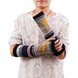 TUDUZ Damen Gestrickt Fingerlose Strickhandschuhe Arm Warmer Winter Handschuhe Fingerhandschuhe