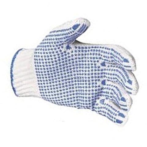 20x TBD Tronix Gants en PVC Dot pois bleu Palm nylon pince à grip sûr travail Packer - - L