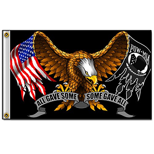 Biker Flag - ALL GAVE SOME, SOME GAVE ALL POW MIA Eagle - 3