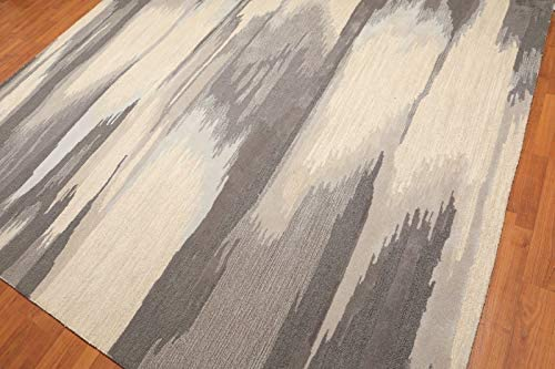 Persian Designs Old Hand Made Faded Ikat Contemporary Style Cloud Wool Cloud Style Area rug ((5x8(152x244cm)) 4f50ef
