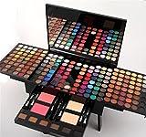 Pure Vie® 180 Colori Palette Ombretti Cosmetico Tavolozza per Trucco Occhi con Correttore Blush e Lucidalabbra - Adattabile a Uso Professionale che Privato