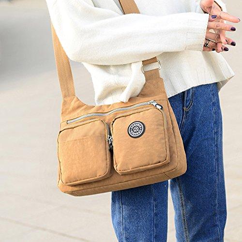 MeCooler Schultertasche Mode Umhängetasche Damen Taschen Leichter Messenger Bag Wasserdicht Kuriertasche Lässige Sporttasche Reisetasche Blau 1