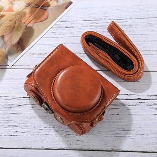 LWL House Ganzkörperkamera PU Leder Kameratasche mit Gurt für Canon PowerShot G7 X Mark II Durable (Farbe : Brown) -