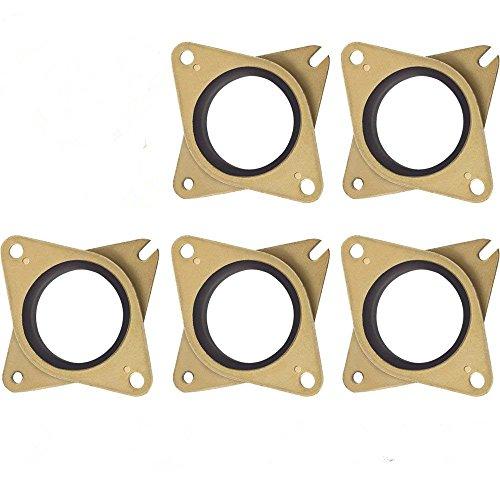 Stoßdämpfer Stepper Vibrations-Dämpfer Yefun Stahl & Gummi Schrittmotor Schwingungsdämpfer für 3D Drucker Nema 17 (5 PCS) (Dämpfer Motor)