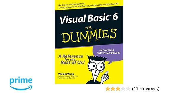 Visual Basic 6 For Dummies Amazonde Wallace Wang