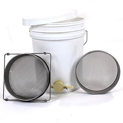 Easibee Honey Settling Tank 20 Litre Double Stainless Steel Strainer Valve Beekeepers 1