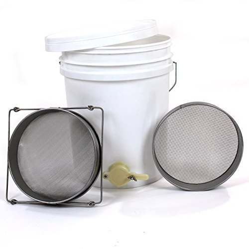 Honey Settling Tank 20 Litre Double Stainless Steel Strainer Valve Beekeepers Test