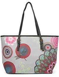 styleBREAKER Shopper Handtasche mit Ethno, Blumen und Punkte Muster, Tasche, Damen 02012054