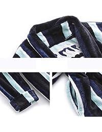 Pajamas Traje de Pijama, Algodón con Bolsillos Albornoz, Par de Invierno Modelos Pijamas, Engrosamiento Mantenga cálido camisón de sección Larga, Conjunto de Albornoz (Manga Larga),Medio,/ 2