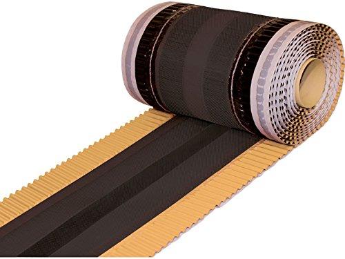 20 lfm (4 Rollen) First- und Gratrolle - 350 mm - Extrabreit - Farbe Beige - Gratband - Firstband - ®Rimini Baustoffe GmbH