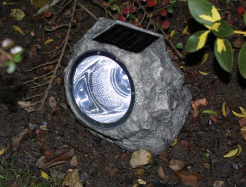 Image of Outdoor Solar Powered LED Rock Light
