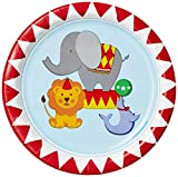 Wanna Party Circus Time Dessert Plates (Pack of 8)