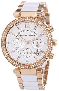 Reloj Michael Kors MK5774 de cuarzo para mujer, correa de acero inoxidable chapado multicolor de Michael Kors
