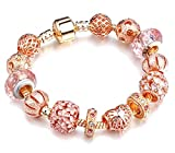 Chanmé Elegantes Armband Murano-Glas Rosegold Murano Glas Kristall (Mit Geschenk Box)