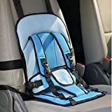 #3: Multi-function Adjustable Baby Car Cushion Seat with Safety Belt - For Babies & Toddlers (Blue)
