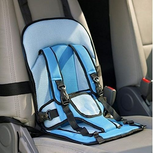 Multi-function Adjustable Baby Car Cushion Seat with Safety Belt - For Babies & Toddlers (Blue)