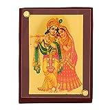 Leganza Radha Krishna Idol Showpiece für Home Office, Mehrfarbig mit braunem Sockel