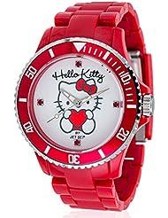 Hello Kitty Mädchen-Armbanduhr Obi Red Analog Quarz Plastik JHK1004-22
