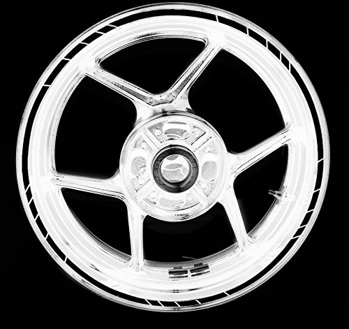Speed Outer Rim Aufkleber Stripe for Triumph Tiger 1050 Reflective Black (Tiger Stripe Digital)