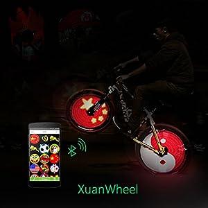 51of30jm7aL. SS300 Bluetooth bicicletta luci bici colorato Whee Lihgts raggio di luce LED RGB 192pz app Support