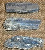 Cianite 3 Cristalli Blu Grezzi Naturali da 20-30 mm