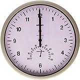 Unilux 100340847 - Reloj de pared para oficina (con termómetro), gris