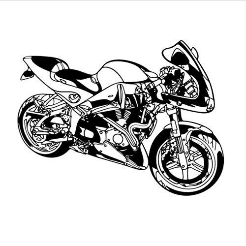 Schwere Motorrad Aufkleber Auto Aufkleber klassische Punk Vinyl Wand Aufkleber Auto Dekoration Wandbild Motorrad Aufkleber 58x77cm -