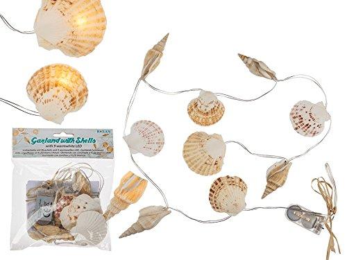 OOTB Lichterkette, Muscheln, Plastik, Integriert, 20 W, Bunt, 112 x 20 x 20 cm