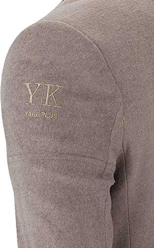 YAKE by S.O.H.O. NEW YORK Sakko Herren Slim Fit - Blazer Herren Sportlich Sheffield Taupe_012