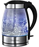 Russell Hobbs Illuminating Glass Kettle, 1.7 L, 3000 W - Clear