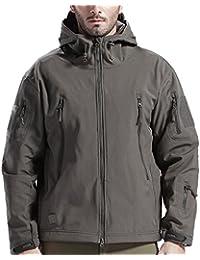 SANKE Herren Outdoor Softshell Militär Taktische Jacke Winter Fleece  Kapuzenmantel 408845b8ae