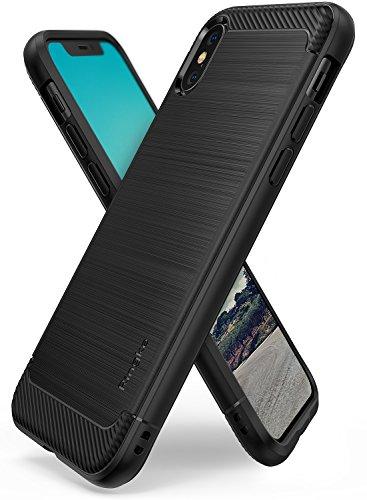Cover iphone x, ringke [onyx] [forza resistente] durevolezza flessibile, durevole antiscivolo, custodia difensiva in tpu per custodia apple iphone x - nero (black)