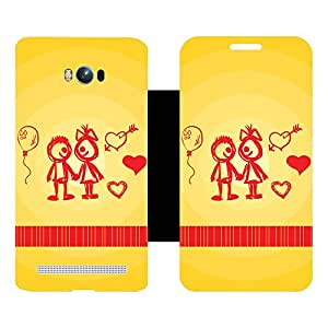 Skintice Designer Back Cover with direct 3D sublimation printing for AsusZenFone Max ZC550KL
