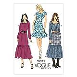 Vogue Patterns V9124 Misses' Dress Sewing Template, Size E5 (14-16-18-20-22)