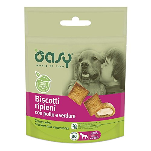 OASY Biscotti ripieni al pollo e verdure 80gr - Snack e biscotti cane