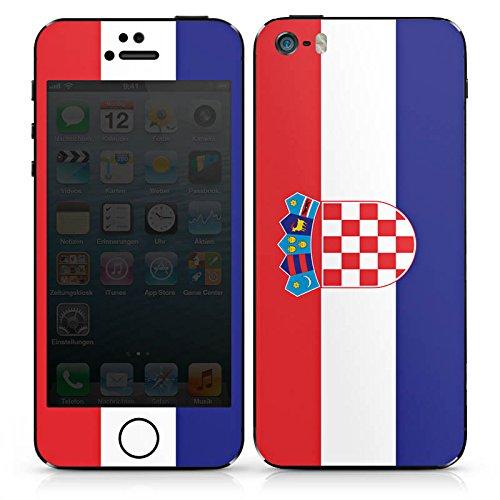 Apple iPhone SE Case Skin Sticker aus Vinyl-Folie Aufkleber Kroatien Flagge Fußball DesignSkins® glänzend