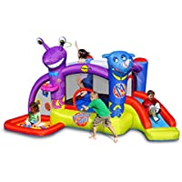 Duplay Friends on Mars Bouncy Castle with Slide and Ball Pool
