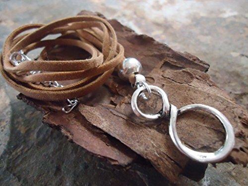 ♥ CONNECTED ♥ collar hippie de gamuza marrón