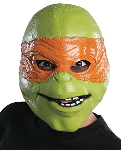 urtle Fabric Mask - Orange (Orange Ninja Turtle Kostüm)