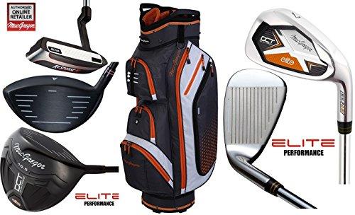 MacGregor DCT Elite Graphite de golf pour homme Ensemble de Deluxe Heritage Sac chariot NEUF 2017, graphite avec fers et Graphite avec Woods, pour droitier